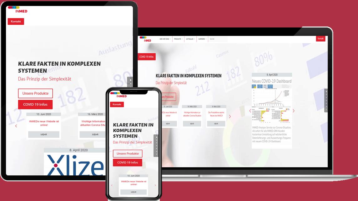 Inmed GmbH Webdesign by CLOOC GmbH